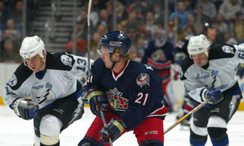 Blue Jackets,Photo by Bruce Bennett Studios via Getty Images Studios